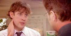 """Jim is a vampire. """"My hands feel so tingly, and strangely powerful"""" Jim Halpert Face, Vampire Bat, That's What She Said, Battlestar Galactica, The Office, I Fall In Love, Beets, Champs, Favorite Tv Shows"""