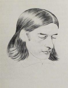 Friedrich Overbeck, Bleistiftzeichnung von Karl Philipp Fohr