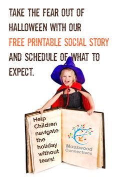 Social stories are great tools for explaining new situations or expectations. This Halloween Social Story helps children with A. navigate the holiday. Children With Autism, Working With Children, Printable Cards, Free Printable, Social Stories Autism, Special Needs Resources, Appropriate Behavior, Spectrum Disorder, School Readiness