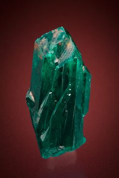 Fully terminated deep green Dioptase crystal from Namibia (by Keys Minerals)