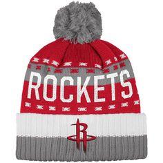 55cf5bf8e5641 Men s adidas Houston Rockets Pom Cuffed Beanie