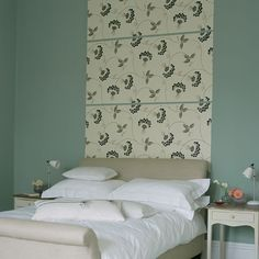Bedroom wallpaper ideas – bedroom wallpaper designs – Ideal Home Serene Bedroom, Cozy Bedroom, White Bedroom, Master Bedroom, Bedroom Ideas, Hotel Room Decoration, Wallpaper Headboard, Wallpaper Panels, Bedroom Turquoise
