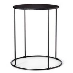 The Metal round accent table makes an ideal accessory for the patio or deck, poolside or inside for your family room, den and even the home office. Made with a sturdy steel construction and durable powder coat finish.
