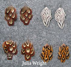 Feather earrings by Julia Wright Feather Art, Feather Earrings, Artist, Blog, Beautiful, Jewelry, Jewellery Making, Artists, Jewelery