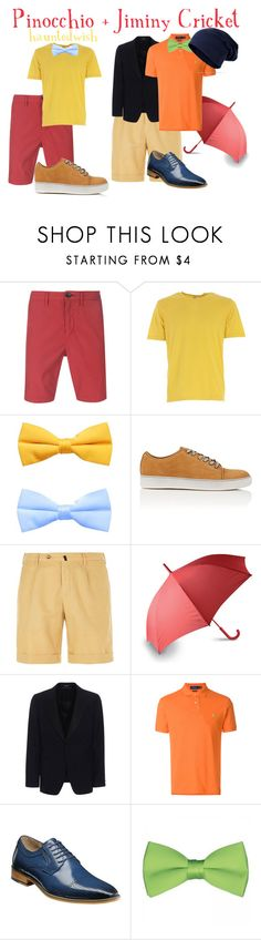 """Pinocchio + Jiminy Cricket"" by hauntedwish ❤ liked on Polyvore featuring PS Paul Smith, Aspesi, Lanvin, Slowear, LEXON, Alexander McQueen, Polo Ralph Lauren, Stacy Adams, men's fashion and menswear"