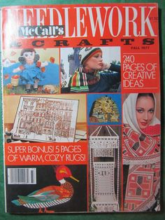 1 - VINTAGE McCALL's NEEDLEWORK & CRAFTS MAGAZINE - FALL 1977 220+pp