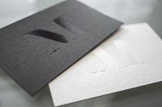 Mel Volkman Modern Business Card Design Black on Black