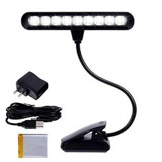Ohuhu Clip-on Music Stand Light with 9 Bright LEDs Portable with Adjustable N... #Ohuhu