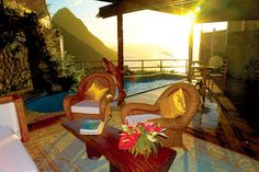 st lucia ladera resort          Luxury Caribbean Resort – An Intensely Blue Caribbean Sea Dashes Against The Volcanic Piton Mountains other ideas
