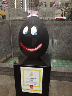 He smiled at all..this funny looking egg.
