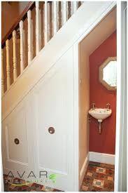 1/2 bathroom under stairs in 2019   bathroom ideas