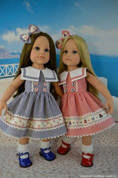 American Doll Clothes, Ag Doll Clothes, Cute Baby Clothes, Baby Girl Dresses, Girl Outfits, Baby Dress Design, Doll Dress Patterns, Frocks For Girls, Girl Dolls