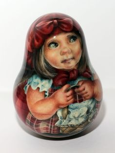 1 Kind Painting Roly Poly Nesting Matryoshka Russian Author Doll Red Riding Hood | eBay