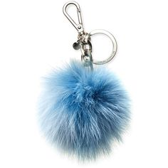 Michael Michael Kors Bicolor Fur Key Charm ($38) ❤ liked on Polyvore featuring accessories, michael kors and key charms