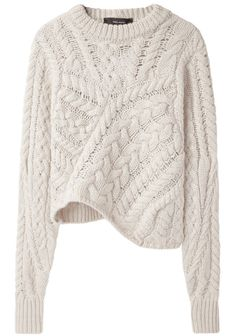 asymmetric knit :: versus irish knit | isabel marant