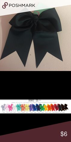 "Last one! ❤ Black Hair Bow 8"" L x 7.5"" W, 2.25"" Alligator Clip. Grosgrain material. New with tags. Accessories Hair Accessories"