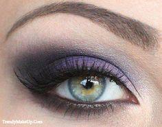 Purple eye makeup. Great for green eyes.