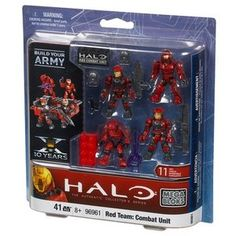 SEALED Halo Wars Mega Bloks 96961 Red Team Combat Unit 4 Lego Action Figures Set | eBay