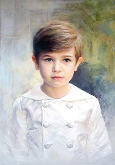 Pastel portrait of a boy by a Portraits, Inc., artist