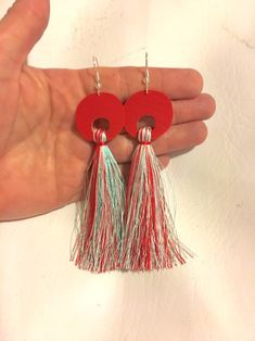 Excited to share this item from my #etsy shop: Long red boho tassel earrings dangle circle round geometric colorful lightweight faux leather bohemian hippie unique jewelry women handmade#long#red#boho#tassel#earrings#jewelry#dangle#circle#round#geometric#fauxleather#bohemian#hippie#lightweight#colorful#women#unique#handmade#homemade Diy Earrings Kit, Tassel Earrings, Dangle Earrings, Leather Earrings, Leather Jewelry, Geode Jewelry, Jewellery, Front Back Earrings, Evil Eye Jewelry