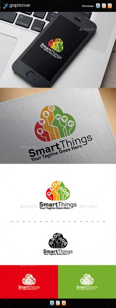Internet Of Things | Cloud Logo — Photoshop PSD #startup #color • Available here → https://graphicriver.net/item/internet-of-things-cloud-logo/11378573?ref=pxcr