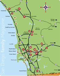 San Diego Family Magazine: 2012 Map of Christmas Lights
