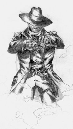 "the gunslinger, also known as roland deschain, a fictive character from stephen king's ""the dark tower"" novells as I would imagine him, kinda. Dark Tower Art, The Dark Tower Series, Dark Art, Cowboy Tattoos, Western Tattoos, Western Comics, Western Art, Dark Tower Tattoo, Apocalypse Art"