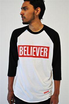 The Believer Unisex Baseball Raglan- #believer