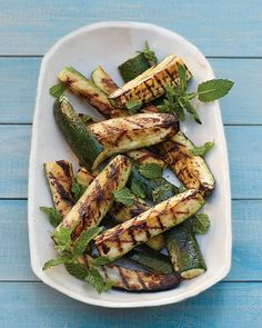 Grilled Zucchini Spears with Mint - Martha Stewart Recipes