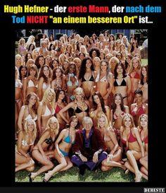 Hugh Hefner - der erste Mann, der nach dem Tod nicht.. | Lustige Bilder, Sprüche, Witze, echt lustig