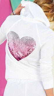 Sudaderas con capucha de la Mujer y suéter de lana: Diseñador y sudaderas con capucha Zip Terry y Jerseys de Victoria Secret