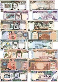 Currency- The currency in Saudi Arabia is called the riyal because they have a lot of money. Saudi Arabia Money, Saudi Arabia Culture, Money Template, Riad, Money Notes, Old Coins, Rare Coins, World Pictures, Vintage World Maps