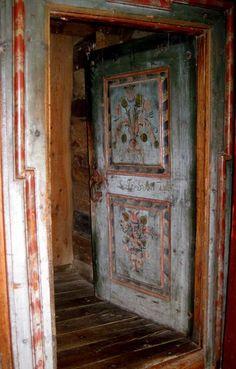 Old door at Grødem museum, Jæren Rogaland, Norway