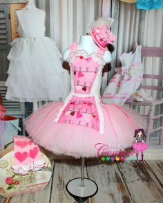 Sweet Hearts Valentines tutu dress in pink by SofiasCoutureDesigns, $65.00