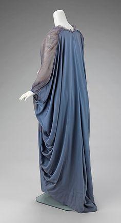 Dress (Tea Gown) - side back view. Very interesting drape.