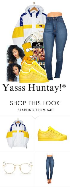 """""""untitled #44"""" by yani122 ❤ liked on Polyvore featuring Tommy Hilfiger, adidas and Ray-Ban"""