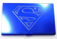 Superman DC Comics Blue Engraved Business ID Card by Heygidday