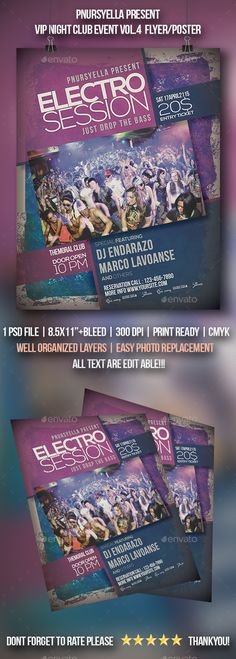 VIP Night Club Event Flyer / Poster Vol.4