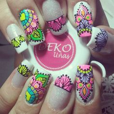Mandala Nails, Nail File, Nail Arts, Manicure And Pedicure, Nail Art Designs, Color, Beauty, San Diego, Work Nails