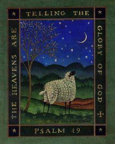 Psalm 19   American Folk Art Painting - Diane Ulmer Pedersen