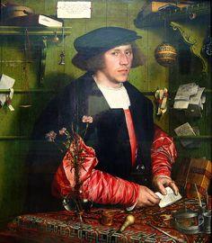 HANS HOLBEIN LE JEUNE Portrait du marchand allemand à Londres Georg Gisze Hans Holbein el Joven (der Jüngere) (Augsburgo, Alemania en época de Imperios 1497?[1] - † Londres, entre el 7 de octubre y el 29 de noviembre de 1543) fue un artista e impresor alemán que se enmarca en el estilo llamado Renacimiento nórdico. Es conocido sobre todo como uno de los maestros del retrato del siglo XVI.[2] También produjo arte religioso, sátira y propaganda reformista, e hizo una significativa contribución…