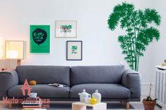 Simples, diferente e muito bonito! Este adesivo decorativo é puro charme para sua sala de estar Bambuzal.