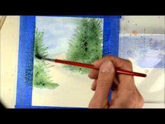 winter watercolour scene tutorial