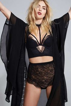 Love, Courtney by Nasty Gal Burn Black Lace Bustier - Clothes | Bustiers + Bodysuits | Bras + Bralettes | Tops | Lingerie