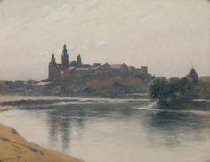 """Stanisław Witkiewicz - """"Wawel od strony Wisły""""[1903]"""
