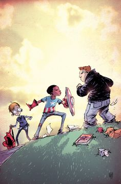 I am Captain America - Cover by Skottie Young