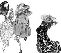 Whimsical fashion illustration // Laura Laine #fav