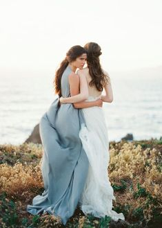 Photo: Erich McVey, Via Once Wed Mod Wedding, Dream Wedding, Wedding Day, Summer Wedding, Once Wed, Lesbian Wedding, Bridesmaid Dresses, Wedding Dresses, Bridesmaids