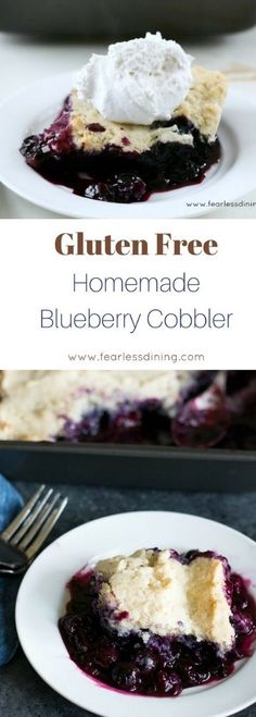You will love this homemade gluten free blueberry cobbler recipe. Dairy free too! This blueberry cobbler is just like grandma's! Recipe at www.grandmasglutenfreerecipes.com #blueberrycobbler #glutenfreecobbler #glutenfree #cobbler via @grandmasgfree