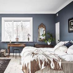 Like this room. Bedroom Inspo, Home Bedroom, Master Bedroom, Bedroom Decor, Scandinavian Interior Bedroom, Bedroom Wall Colors, Beautiful Bedrooms, Home And Living, Room Inspiration
